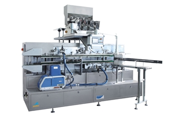 Automatic packing machine for top opening and washing clothes