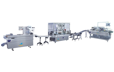 Automatic packing line of oral liquid labeling machine